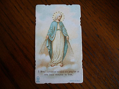 Antique Holy Card Virgin Mary Immaculate Concpetion no.5063  *smaller size*
