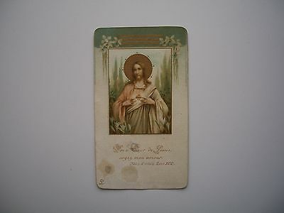 Antique Holy Card of Sacred Heart of Jesus no.607