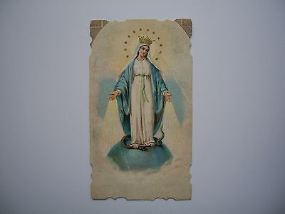 Antique Holy Card of Virgin Mary / Immaculate Conception