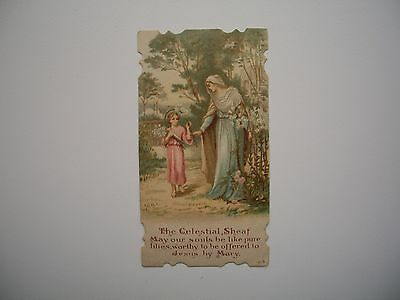 Antique Holy Card of Virgin Mary / Jesus no.1015 *smaller size*