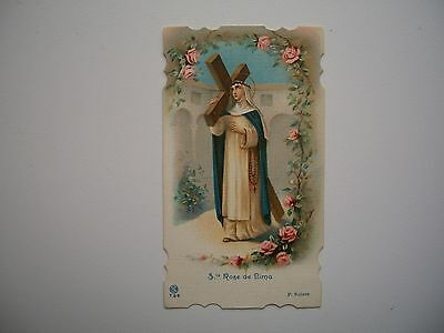 Antique Holy Card Saint Rose of Lima no. 739 *smaller size*