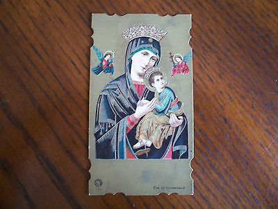 Antique Holy Card Virgin Mary / Our Lady of Perpetual Help no.730