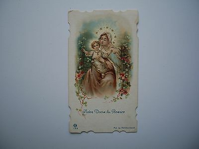 Antique Holy Card of Virgin Mary / Our Lady of The Rosarie no.753 *smaller size*
