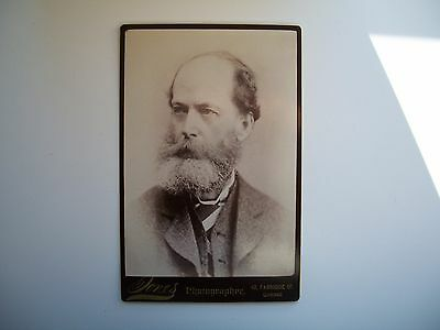 Antique Cabinet Photo by Jones Quebec Canada Man c-1880