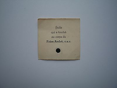 RARE 3rd Class Relic / Holy Card of Saint Frere / Brother Andre Besette