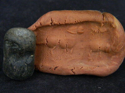 Ancient Stone Bead Seal/Stamp Near Eastern C.300 BC #Ik816