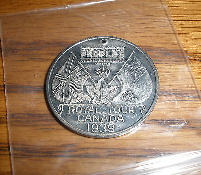 1939 Royal Visit to Canada Commemorative Medallion / Token Peoples Jeweliers