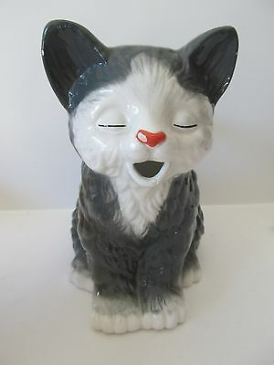Vintage Seymour Mann Pretty Kitty Handpainted Faience Pitcher