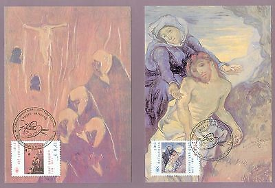 Vatican City Sc# 1246-7: Great Painters: Van Gogh and Gauguin, 2 Maxi Cards