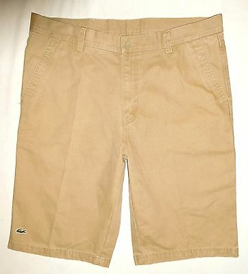LACOSTE Men's Pale Khaki Casual Shorts Size 38 - Near New