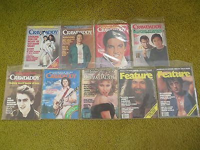 Collection/Lot of Crawdaddy / Feature Magazines 1976-1978