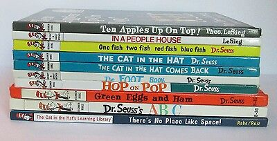 Lot Of 10 Dr Seuss Hardcover Books I Can Read Bright and Early