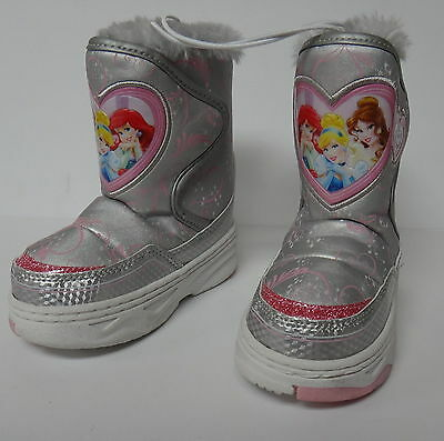 LOT of 12 PAIR DISNEY PRINCESS TODDLER GIRL WINTER BOOTS SIZE 5/6 RESALE