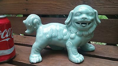 ANTIQUE Chinese porcelain FOO DOG DRAGON FIGURE STATUE