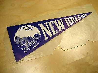 Vintage  New Orleans  The Air Hub of the Americas's paper  sticker pennant