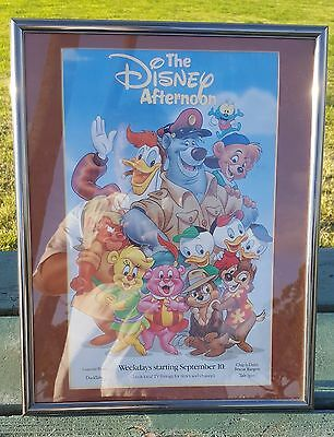 The Disney Afternoon TV Advertisement Poster Duck Tales Rescue Rangers Tale Spin