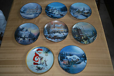Thomas Kinkade Yuletide/Old Fashioned Plates & Lisi Martin Hamilton Collection