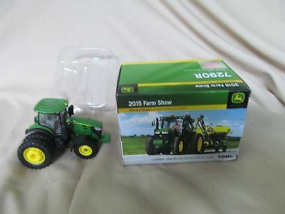 "ERTL 2015 FARM SHOW JOHN DEERE 7290R Toy Tractor ""Green Version""  1/64 NIB"