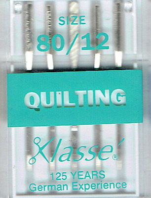 Klasse Quilting Machine Needles 80/12 for Janome or Brother Sewing Machines