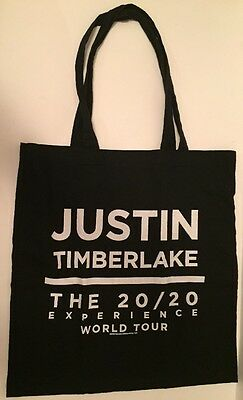 Justin Timberlake Tote Bag Exclusive 20/20 Tour VIP Black cloth