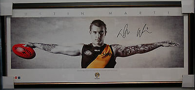 Dustin Martin Hand Signed Framed Wings Limited Edition Print Richmond Tigers Afl
