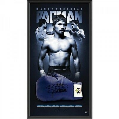 Manny Pacquiao Signed And Framed Boxing Limited Edition Glove 'pacman' Champion