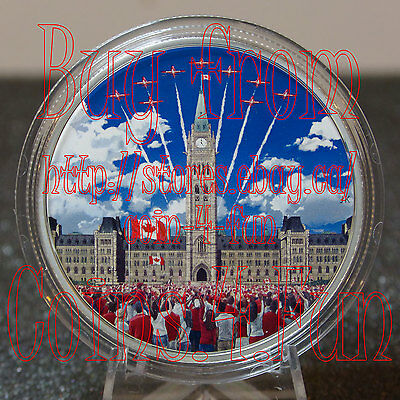 2017 Celebrating Canada 150 Parliament Hill 2oz $30 Glow-In-The-Dark Silver Coin