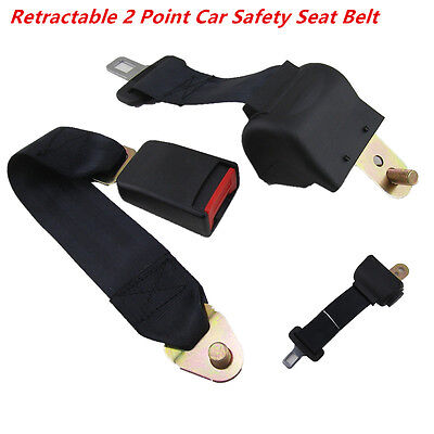 Retractable 2 Point Auto Car Safety Seat Belt Female Part&Male part For All Cars