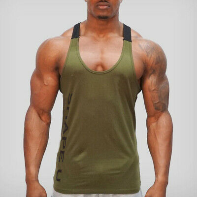 Mens Gym Tank Tops Muscle Stringer Bodybuilding Workout Sleeveless Gym Shirts