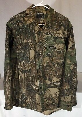 Vintage Rattlers Brand RealTree Camo Chamois Shirt Men's XL Tall Made in USA