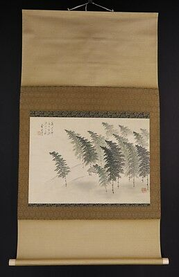 JAPANESE HANGING SCROLL ART Painting Scenery Asian antique  #E5914