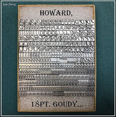 Howard Personalizer Type  ( 18pt. Goudy Cursive ) Hot Foil Stamping Machine