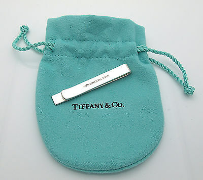 Brand New TIFFANY & CO Sterling Silver Classic Tie Bar /Money Clip /Bill Holder