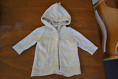 Lovely wool knitted purebaby baby organic cotton jacket size 000