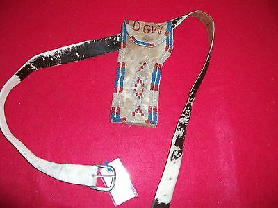 vintage beaded holster with belt
