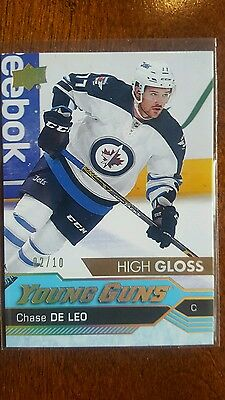 16-17 UD Chase De Leo High Gloss Young guns #2/10 Rookie Card RC