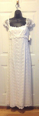 Jessica Mcclintock Lite  Ivory Formal Wedding Gown  Size  8 New With Tag's