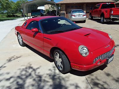 2002 Ford Thunderbird Red and Black Leather 2002 Ford Thunderbird Premium Edition