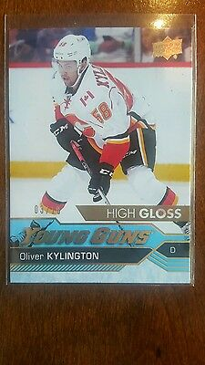 16-17 UD Oliver Kylington High Gloss Young guns #3/10 Rookie Card RC