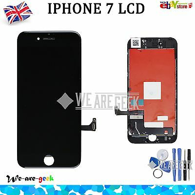 """For iPhone 7 4.7"""" LCD Touch ScreenDigitizer Assembly Replacement Frame Black UK"""