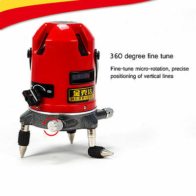 5 Line 6 Point Automatic Self Leveling Rotary Laser Level Meter Measure Finder