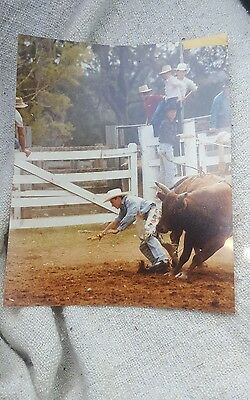 Vintage Press Photo - Aussie Rodeo Bull Riding #3