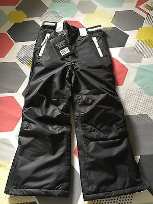 Kids Ski Snow Pants Black Size 7