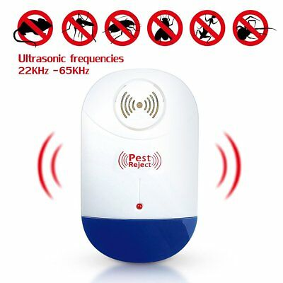Ultrasonic Electronic Mosquito Pest Repeller For Mice Roaches Flies Bed Bugs US