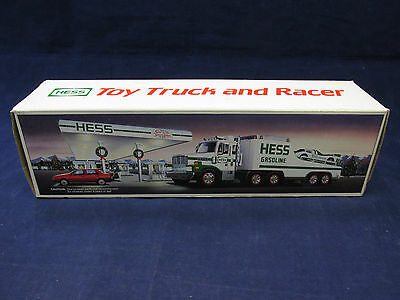 1988 Hess Gasoline Toy Truck & Racer w/ Lights