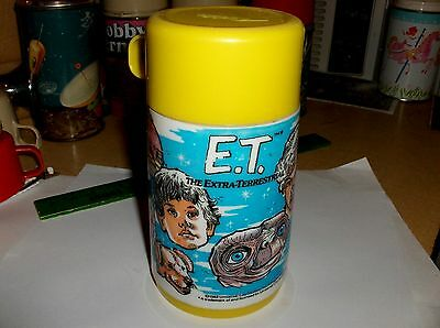 ET..Extra Terrestrial`1982`Universal City Studios,Plastic Lunchbox-Thermos->Nice