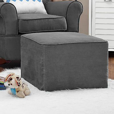 Baby Relax Mackenzie Ottoman Microfiber Nursery Plush Grey Chair Rocking Gray