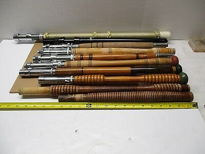 Vintage Wood Fishing Reel Rod Handles 1- Aftco - Set Of 10 * Estate Find *