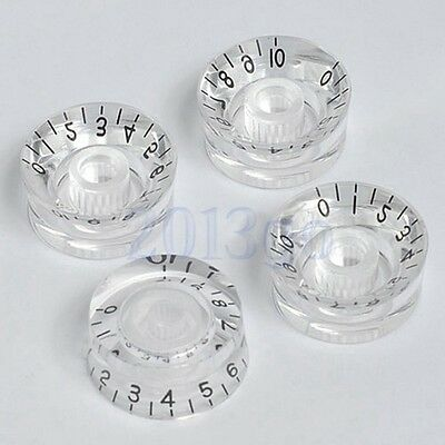 New 4pcs Transparent Guitar speed volume tone knobs for Gibson Les Paul Parts CG