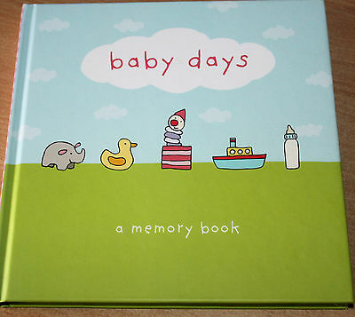 BABY BOOK -  BABY DAYS - A MEMORY BOOK - Fill in Keepsake record book